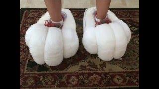 getlinkyoutube.com-Big Foam Feet Paws