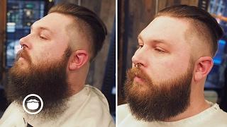 getlinkyoutube.com-Bushy Beard Trimmed to Well Groomed | Cut and Grind