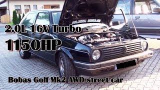 getlinkyoutube.com-Brutal Golf Mk2 1150HP 16V Turbo Acceleration from Boba-Motoring!!! Full Video
