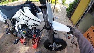 getlinkyoutube.com-New PitBike YCF 150 | Nowy motorek | Pit bike z francji | France mini supermoto bike