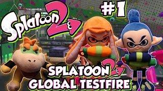 ABM: Inklings & Bowser Jr Playing!! SPLATOON 2 GLOBAL TESTFIRE!! GAMEPLAY!! HD