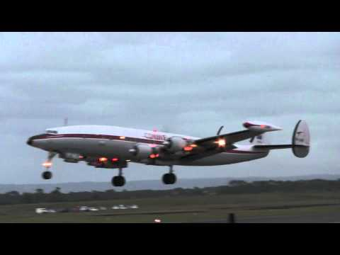Qantas 'Connie' Super Constellation Takeoff with flames (1080p HD)