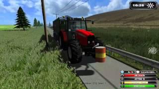 getlinkyoutube.com-Massey Ferguson 7480 Collecting Maize 2012 Farming Simulator 2011