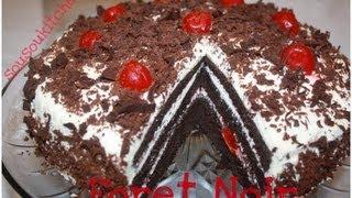 getlinkyoutube.com-Recette de gateau foret noire/ Black forest cake-Sousoukitchen