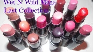 getlinkyoutube.com-My Wet N' Wild Megalast Collection Lipstick (Lip Swatches)