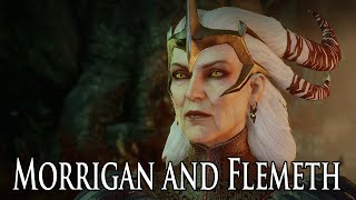 getlinkyoutube.com-Dragon Age: Inquisition - Morrigan and Flemeth Reunion (Old God Baby, Morrigan Drank From Well)