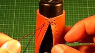 getlinkyoutube.com-【革の縫い方っ!4】:『クロス・ステッチ-①(cross‐stitch-1)』 レザークラフト動画<011>