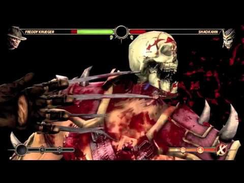 Mortal Kombat: Freddy Krueger DLC - X-ray, Throws, Fatality, Babality, and Ladder Mode Ending.