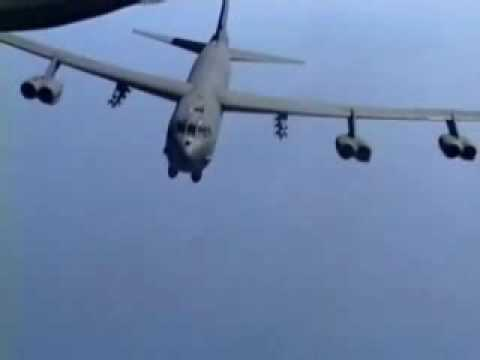 B-52 Dropping Lots & Lots of Bombs - Carpet Bombing