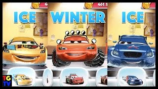 getlinkyoutube.com-Cars Fast as Lightning - Winter McQueen, ICE Miguel, ICE Pyotr