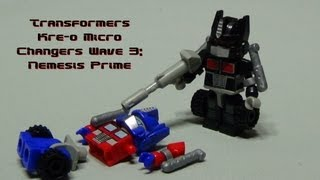 getlinkyoutube.com-Transformers Kre-o Micro Changers Wave 3: Nemesis Prime