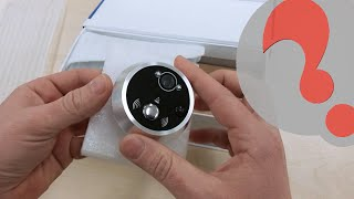 getlinkyoutube.com-Motion Activated Digital Peephole, security Camera Unboxing, Installation and Handson