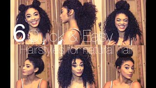 getlinkyoutube.com-6 Quick & Easy Hairstyles for Natural Hair | jasmeannnn