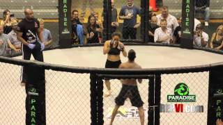 getlinkyoutube.com-Sherisse Subero Vs Male Opponent Exhibition Match - MMA in Paradise 4