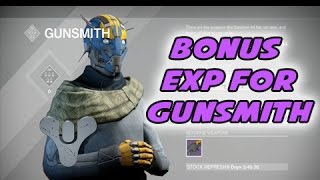 Destiny - How to Rank up the GunSmith FAST