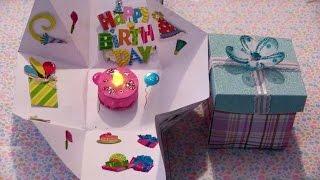 getlinkyoutube.com-Cajita sorpresa con un pastel dentro para un cumpleaños o cualquier ocacion especial