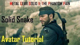 getlinkyoutube.com-Metal Gear Solid V The Phantom Pain Avatar Tutorial SOLID SNAKE