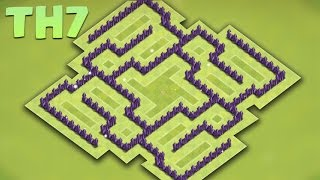 getlinkyoutube.com-Best Town Hall 7 (Th7) Farming/hybrid Base 2016 - Protect TH/Storages + Defense replays