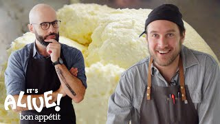 Brad and Babish Make Ricotta Cheese | It's Alive | Bon Appétit width=
