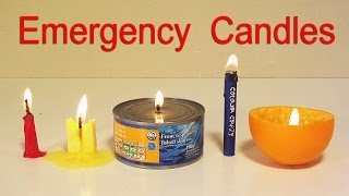 getlinkyoutube.com-How to Make 5 Emergency Candles - Life Hacks