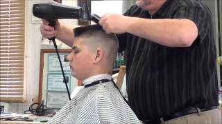 getlinkyoutube.com-MILITARY FLATTOP HAIR CUT.