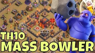getlinkyoutube.com-BOWLER 3 Star Strategy TIPS at TH10 [RING BASES] Clash Of Clans Attacks