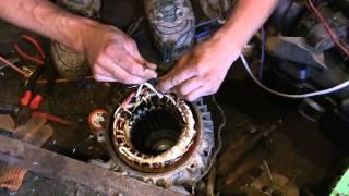getlinkyoutube.com-Электродвигатель 380 на 220 если всего 3 провода выходит из обмотки
