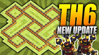 getlinkyoutube.com-Clash of Clans – EPIC TH6 Farming Base! – NEW Two Air Defense Update – (CoC Town hall 6 Hybrid Base)