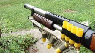 getlinkyoutube.com-Pump Shotgun Rubber Band Gun - Homemade