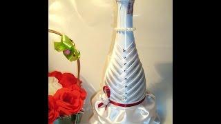 getlinkyoutube.com-Свадебная бутылка- невеста. Украшения для свадьбы