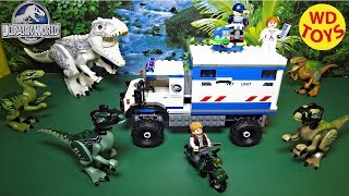 getlinkyoutube.com-Lego Jurassic World Raptor Rampage 75917 W 2015 Indominus Rex Unboxing, Review By WD Toys