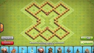 getlinkyoutube.com-La mejor aldea defensiva/farming de ayuntamiento 5 !!!!! Clash of Clans