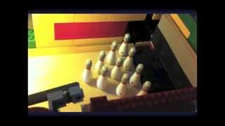 getlinkyoutube.com-Lego bowling alley! Ball returning system