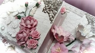 getlinkyoutube.com-WOC SHABBY CHIC BOOK BOX STACK (full tut w/easy crackle finish i've been doing for years)