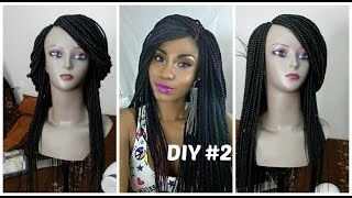 getlinkyoutube.com-DIY #2: Box Braid Wig Tutorial