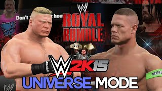 "getlinkyoutube.com-WWE 2K15 Universe Mode - Ep 6 - ""ROYAL RUMBLE 2015!"" [WWE Universe XBOX ONE / PS4 / NEXT GEN Part 6]"