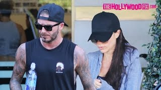 getlinkyoutube.com-David & Victoria Beckham Attend SoulCycle Class In Brentwood 10.20.15 - TheHollywoodFix.com