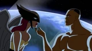 getlinkyoutube.com-Green Lantern Kisses Hawkgirl