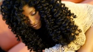 getlinkyoutube.com-Natural Hair No Heat Curls & Waves Flexi Rod Set Tutorial