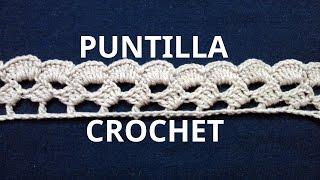 getlinkyoutube.com-Puntilla N° 43 en tejido crochet tutorial paso a paso.
