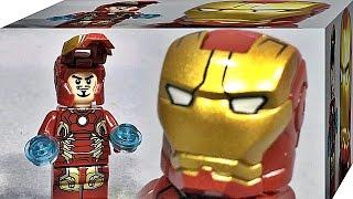 getlinkyoutube.com-sy 아이언맨 마크 43 슈트 마블 어벤져스 레고 짝퉁 미니피규어 Lego knockoff iron man mk 43 76038