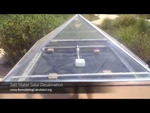 Salt Water Solar Desalination