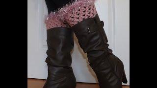getlinkyoutube.com-Crochet Reborde De Botas O Calentador