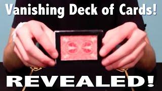getlinkyoutube.com-Vanishing Deck of Cards - Magic Tricks REVEALED