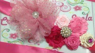 getlinkyoutube.com-Cintillo de flores para embarazadas    VIDEO No. 234