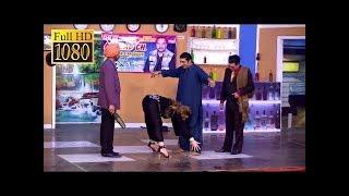 Zafri Khan Best Comedy Scenes Of 2017 in Stage Drama  Very Funny😂  Khushboo,Ifthkar Thakur