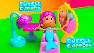 getlinkyoutube.com-BUBBLE GUPPIES Nickelodeon Salon and Style Little Charmers Video Toys Unboxing