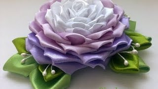 getlinkyoutube.com-🌺 Роза Канзаши Мастер Класс / Rose Kanzashi