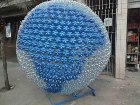 animais feito de material reciclável