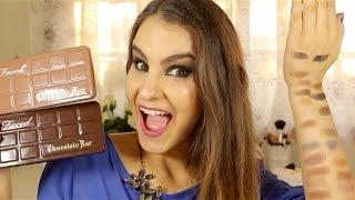 getlinkyoutube.com-Review - Too Faced - Chocolate Bar VS Semi Sweet Chocolate Bar   Sara Ferreira
